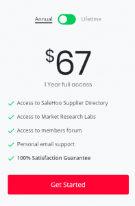 SaleHoo Pricing